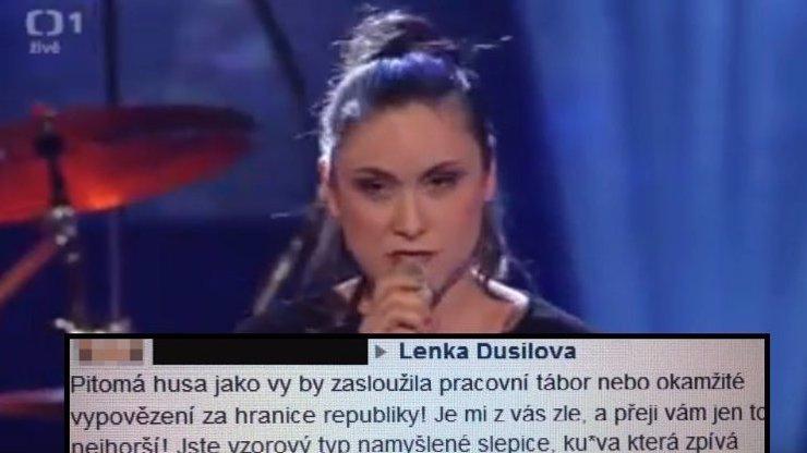 Chcípni, d*vko! Lence Dusilové vyhrožují smrtí fanoušci prezidenta Zemana