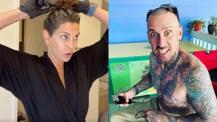 9 celebrit, které si v karanténě tvoří účesy samy: Vlasy na Jágra i dálnice na hlavě nejsou výjimkou