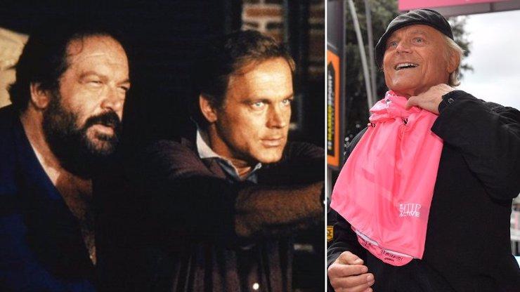 Terence Hill odolává zubu času, jak může: Parťák Bud Spencer už mu mává z nebe