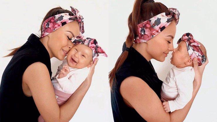 Kouzelné fotky matky s dcerkou: Monika Bagárová sladila čelenku s rozkošnou Rumiou