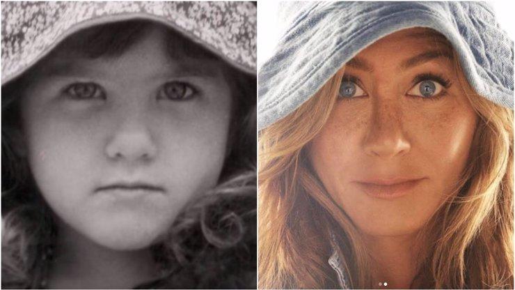 Jennifer Aniston zveřejnila snímek z dětství: Jako malá holčička byla k sežrání