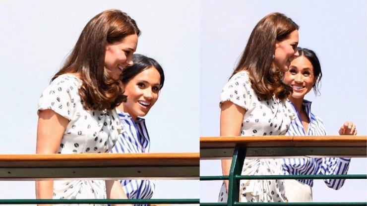 Poprvé bez manželů: Kate a Meghan vyrazily na Wimbledon. Smály se jako malé holky