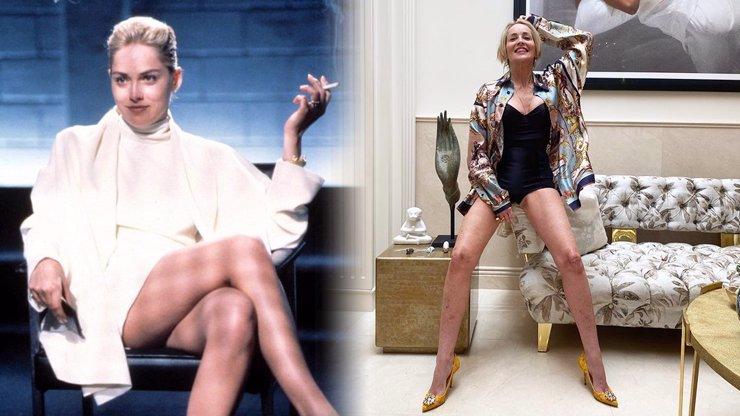 Sharon Stone odhalila nohy jako v Základním instinktu: Po mrtvici je zpátky ve formě