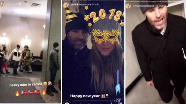 Silvestr v plamenech! Jaromír Jágr a Veronika Kopřivová zažili dramatický konec roku!