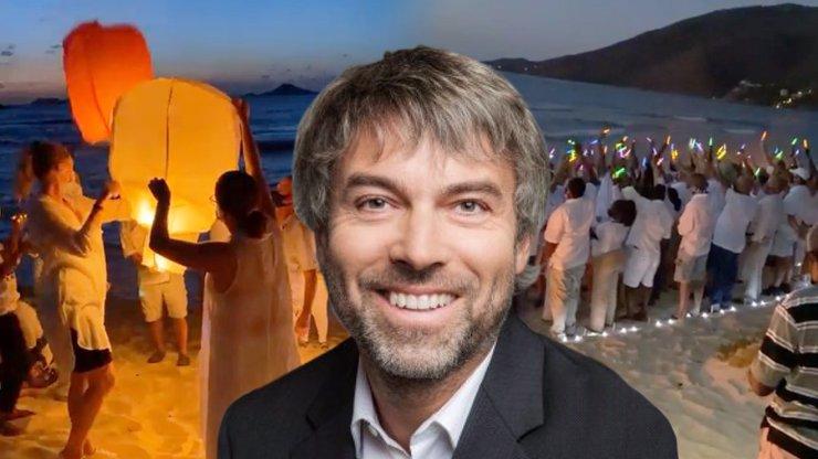 Dojemné loučení s Petrem Kellnerem v Karibiku: Smuteční průvod a obří srdce v písku