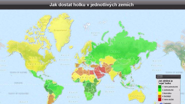 Světová mapa sexu: V jaké zemi je nejlehčí dostat do postele holku? Šokující výsledek pro Češky!