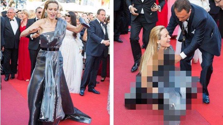 Hvězdný trapas topmodelky Petry Němcové v Cannes: Takhle nemotorně se válela po červeném koberci!