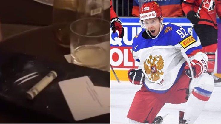 Slavný hokejista v maléru: Kuzněcov sedí nad lajnami kokainu! VIDEO JAKO DŮKAZ