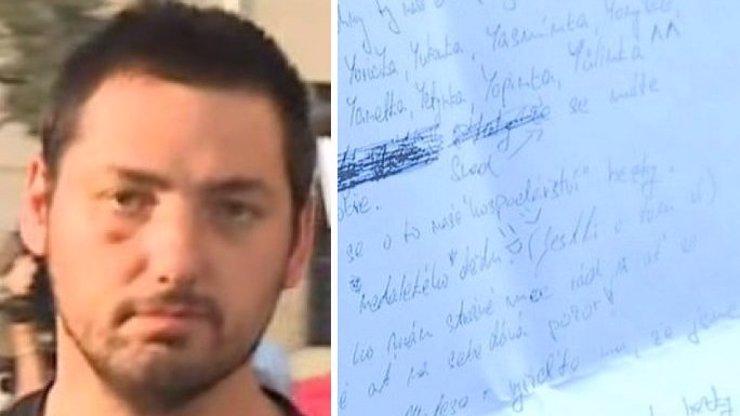 DOPIS Z GARÁŽOVÉHO BYTU EXISTUJE! Tohle psal Daneček své mamince, když je Zdeněk H. věznil v garáži