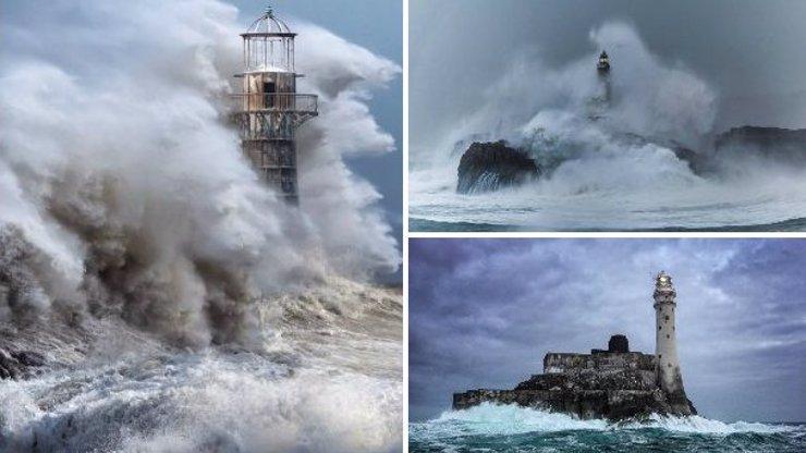 Navzdory bičující vodě a silnému větru: 14 dech beroucích fotek majáků z celého světa