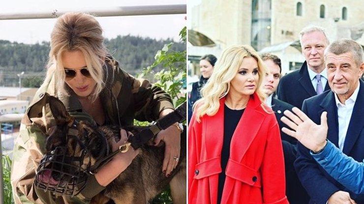 Monika Babišová vyměnila luxusní hadříky za maskáče. Z té částky jde hlava kolem