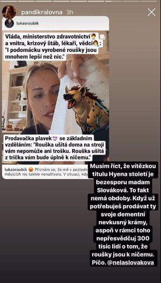 Nela Slováková pod palbou kritiky známých osobností: Chce se mi z tebe zvracet, vzkázala Veronika Arichteva