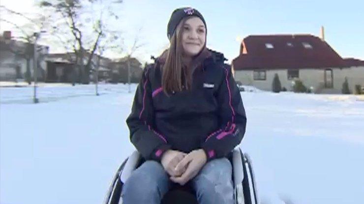 Pomozte ochrnuté Verunce (13). Neštěstí na lyžích se může stát i vám!