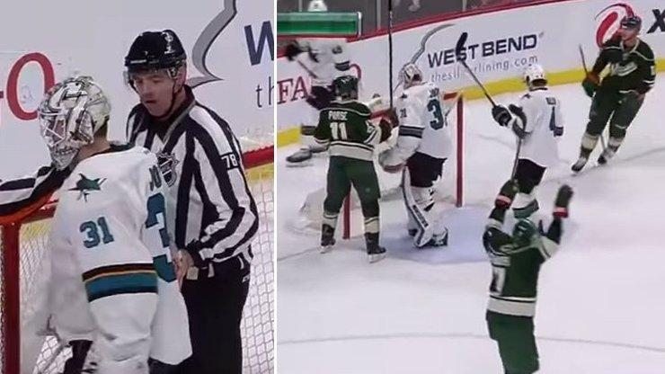 Ale kde je puk? Slavnou NHL pobavil gól, který nepadl!