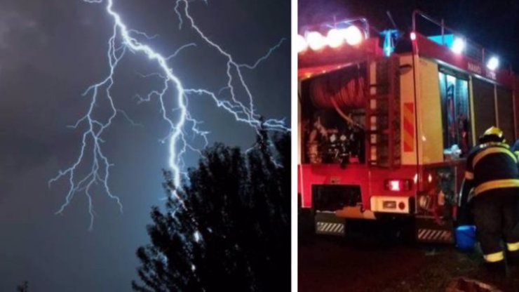 Bouřky řádily nejvíce v Praze a jižních Čechách: Hasiči řešili sesuv půdy i požáry