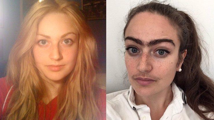 Dánská verze Fridy Kahlo: Dívka se vykašlala na trhání chloupků v obličeji, výsledek je děsivý