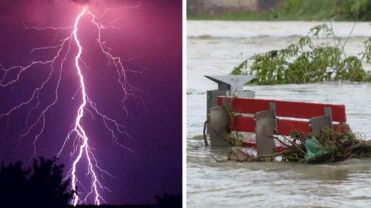 Na Česko se řítí další vlna bouří a krupobití, hrozí povodně: Meteorologové vydali výstrahu