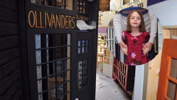 Holčička žije v magickém světě Harryho Pottera: Ve skříni ukrývá celou Příčnou ulici