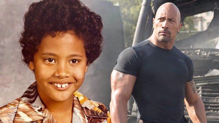 Dwayne Johnson se pochlubil fotkou z dětství: Těžko uvěřitelné, že je to ten stejný člověk