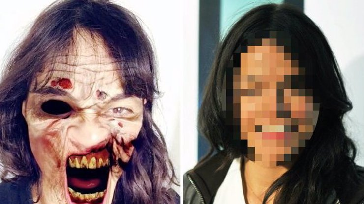 Poznáte, která herečka se skrývá pod touto hrůzostrašnou maskou? Napovíme, má ráda ženy!