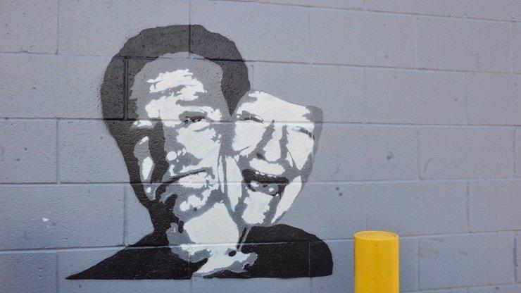 Vzdal pouliční umělec Banksy hold Robinu Williamsovi? Tohle se objevilo na jedné zdi v Los Angeles