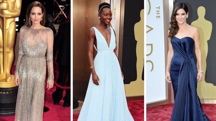 10 nejkrásnějších šatů z předávání cen Oscarů: Blyštivá Angelina, sexy