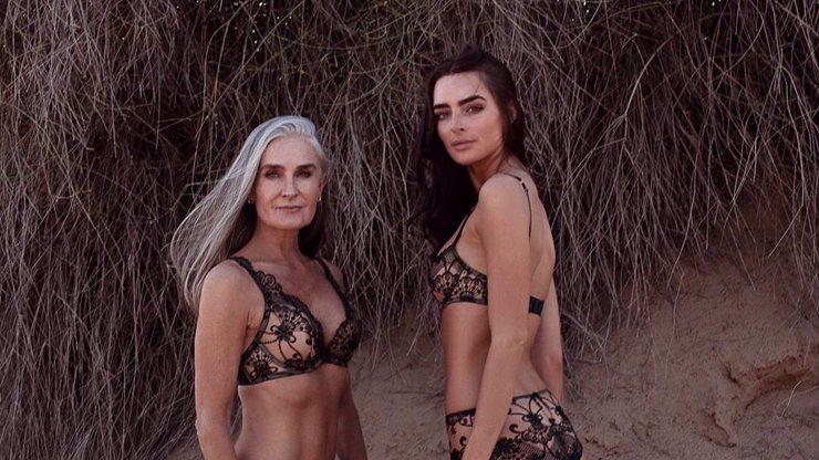 Za stárnutí se nestydí: Modelka Caroline Labouchere (55) nafotila set s dcerou (23)