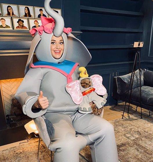 Šmrnc si udržuje i v těhotenství: Katy Perry se obléká do extravagantních outfitů