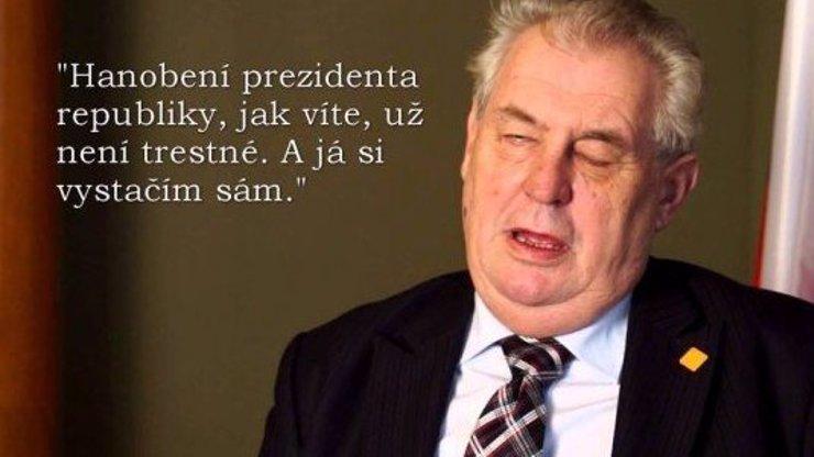 Miloš Jitrnice pronesl takový běžný prezidentský přípitek: