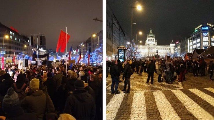 Nejmenší demonstrace vůbec: Týden před Vánocemi nemají lidé na Babiše čas