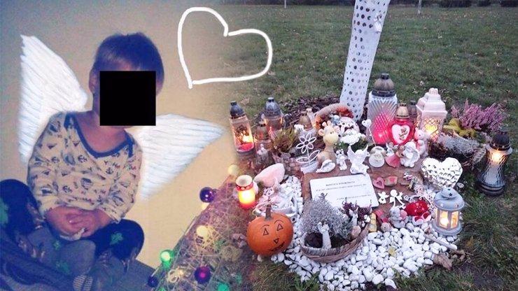 Na Marečka (†3), kterého bestiální Kuča umučil k smrti, lidé nezapomněli: Bílý pomníček a svíčky