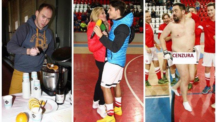 4 nepřístojnosti, které probíhaly na charitativním fotbalu: Hruška vařil, Borhy se cicmala a náš šéf... Škoda mluvit!