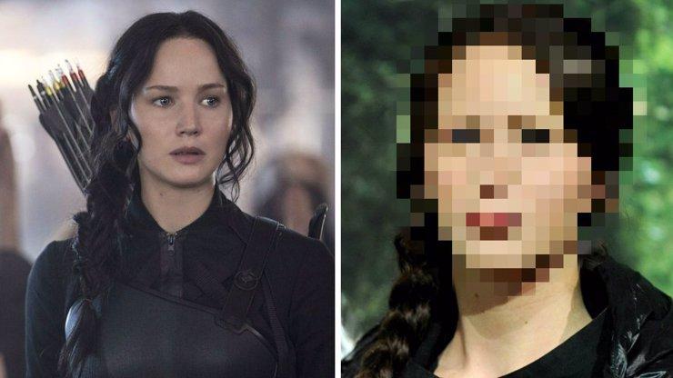 Tohle si hvězda Hunger Games nezasloužila: Obličej figuríny Jennifer Lawrence je oteklý jak po náletu vos