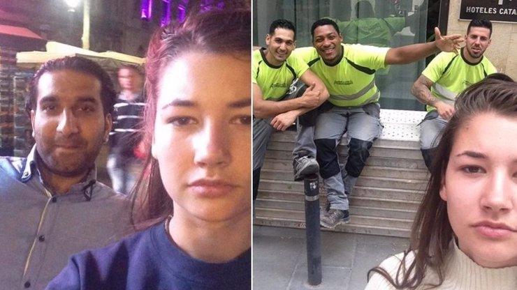 Na ulici ji obtěžovali úchylové. Dívka z Nizozemska si s nimi začala fotit selfie