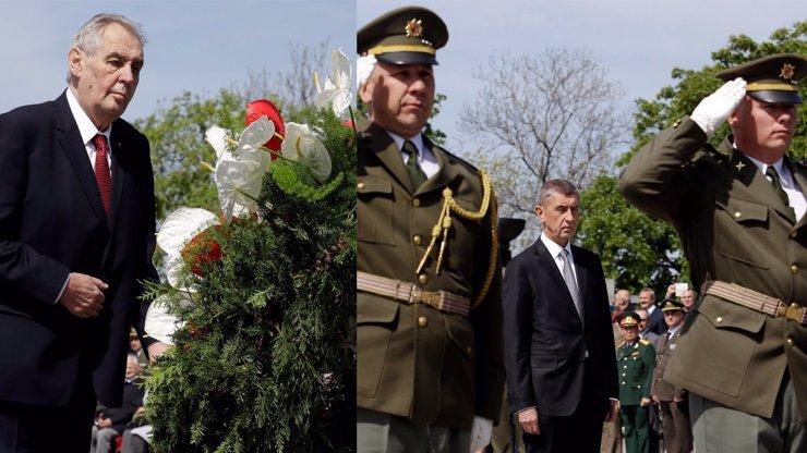 Výročí konce války provázejí opatření kvůli koronaviru: Dorazil Zeman, Babiš a další