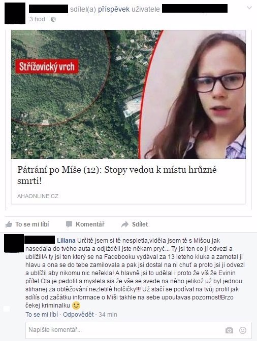 NOVÝ PODEZŘELÝ! Policie zjišťuje, co měla pohřešovaná Míša domluveno s tajemným rybářem z Ústí nad Labem