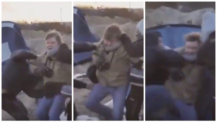 VIDEO: Uprchlíci v Calais útočili na novináře, kteří přijeli dělat reportáž
