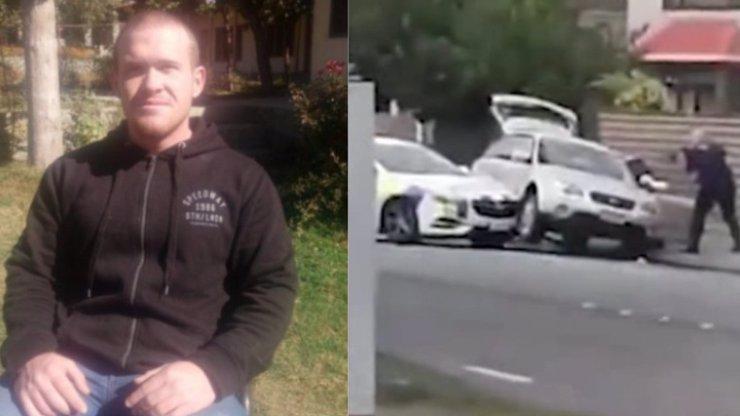 Takhle ho dostali: Video zatýkání vraha z mešity Brentona Tarranta, který dřív trénoval děti!