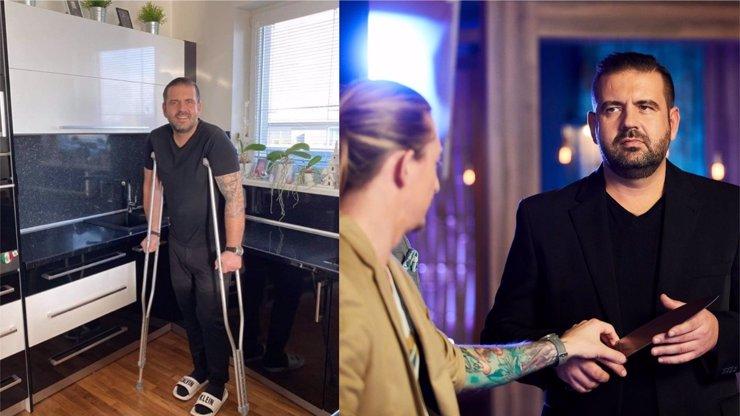 MasterChef Radek Kašpárek 14 dní po operaci páteře: O berlích, ale s úsměvem poslal ženě dojemný vzkaz