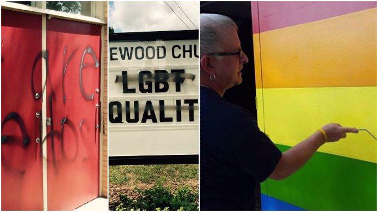 Křesťanský kostel se stal terčem vandalů, protože byl otevřen i homosexuálům. Neuvěříte, jak věřící odpověděli!