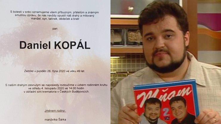 Příliš brzká smrt Dana Kopála: Rodina zveřejnila parte, je na něm dojemný symbol