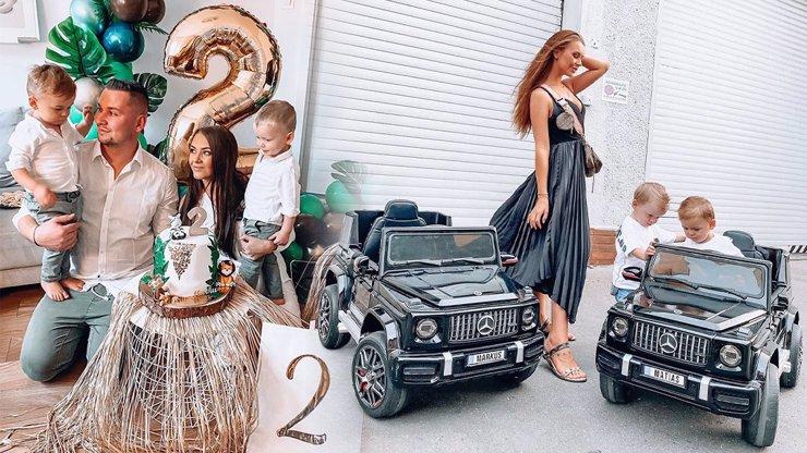 Děti Natálie Myslivcové žijí v luxusu: Dvojčata oslavila 2 roky pompézní podívanou a drahými dárky