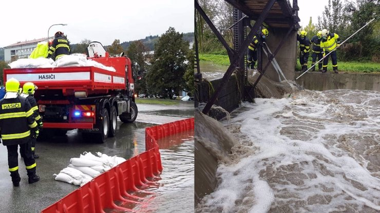 Meteorologové varují před povodněmi: Hladiny řek se nebezpečně zvyšují, vylévají se z břehů