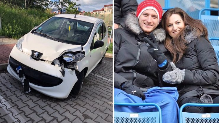 Luxusní vůz fotbalisty Krmenčíka: Ve 2 hodiny ráno naboural 4 auta v ulici