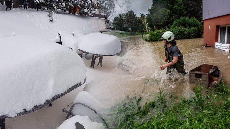 Na Česko se ženou povodně i vánice. Meteorologové vydali nejvyšší stupeň nebezpečí