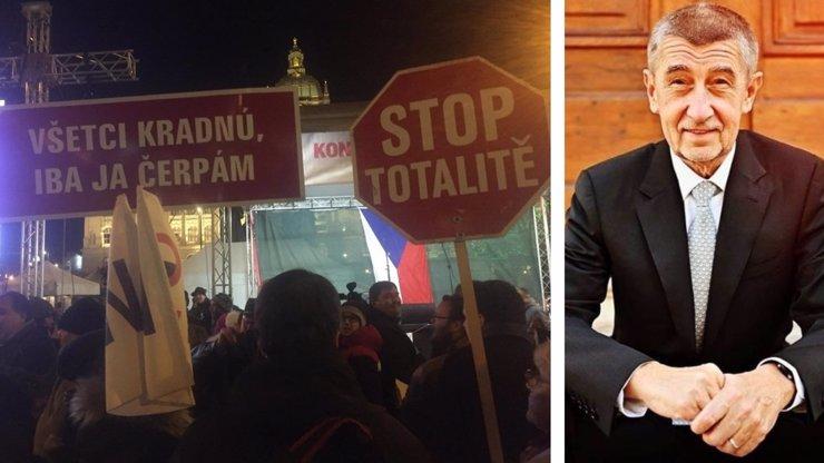 Demonstrace proti Babišovi nabírá na síle: Máme dost vlády jedné straky, Andreji, odstup, skandují