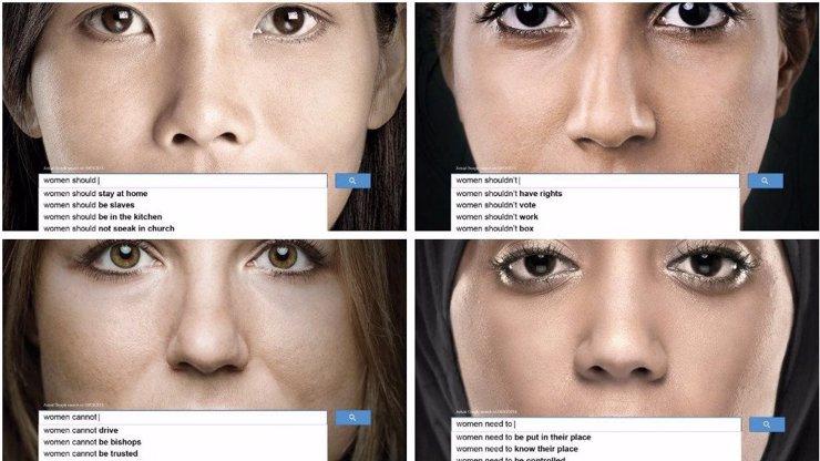 Poutavá kampaň Spojených národů na 4 výmluvných fotkách: Co si o ženách myslí internet?