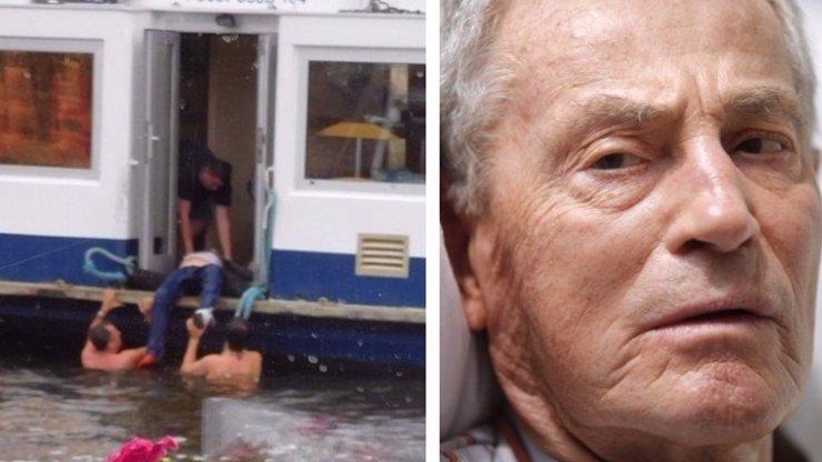 Výsledky pitvy: Jan Tříska (†80) si při pádu z Karlova mostu přerazil páteř