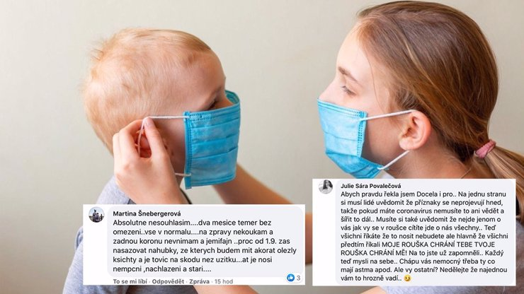 Vztek Čechů kvůli rouškám: Náhubky nechceme, ať je nosí jen nemocní, bouří se