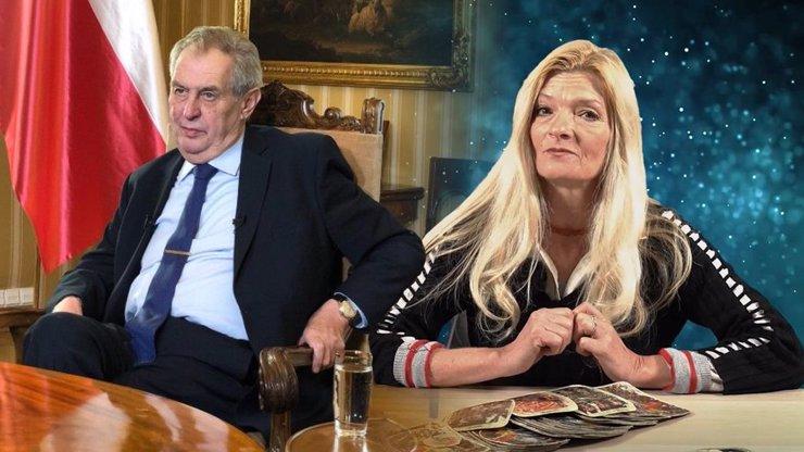 Miloš Zeman své funkční období dokončí duševně omezený, věští kartářka Michaela Kudláčková